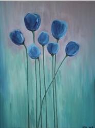 Birgitte Nora Frandsen.  1948 -    .  Maleri  ( Blomster)