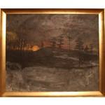 Erik Enevold.  1926 -  .  Maleri (Aftenstemning)