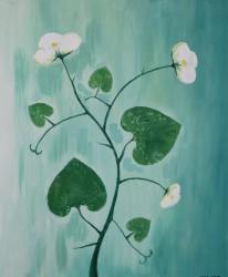 "Betegnet ""Blomsterranke"" ved NORA 2015 -  Unika aftryk/maleri"