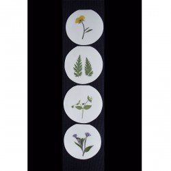 Blomsterkort med tørrede vilde planter af Nora - cirkulære