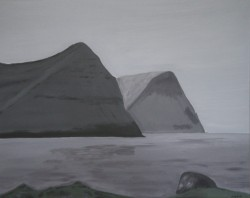 Birgitte Nora Frandsen.    1948 - .   Maleri ( Færøerne, Vidareidi )