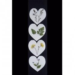 Blomsterkort med tørrede vilde planter af Nora - hjerteformede