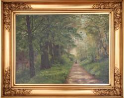 Christian Zacho .  1843 - 1913 .  Maleri (skovtur)