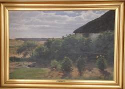 Hans Smidth . 1839 - 1917 .  Maleri (Georginer på heden)