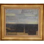 Jack Kampmann .  1914 - 1989 .  Maleri (Færøerne, Bygd)