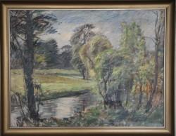 Niels Holbak. Maleri ( Å landskab)
