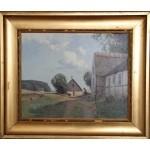 Niels Walseth.  1914 - 2001 .  Maleri (Bondegårds idyl)