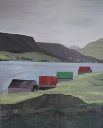 Birgitte Nora Frandsen.  1948 -  .   Maleri ( Færøerne, Glyvrar )