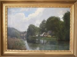 Viggo langer.  1860 - 1942.  Maleri (Frederiksdal)