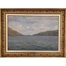 Frants Landt.  1885 - 1975 .  Maleri ( Færøerne,Vaag)