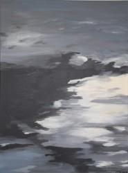 Birgitte Nora Frandsen.  1948 -    .  Maleri ( Lys i mørket)